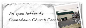 An open letter to Countdown Church Corner